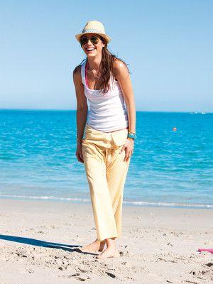 Balihose - Krempelbund, weit geschnitten fisherman pants , free pattern burdastyle