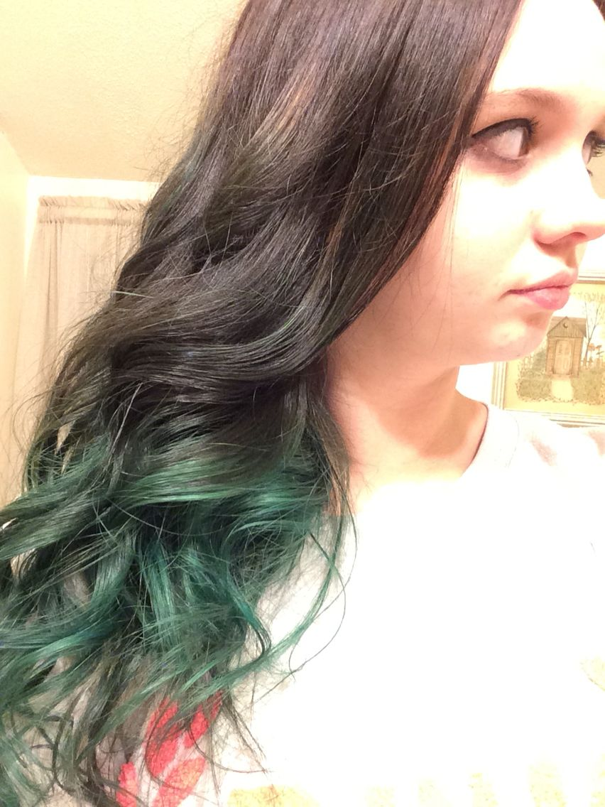Ombre teal hair