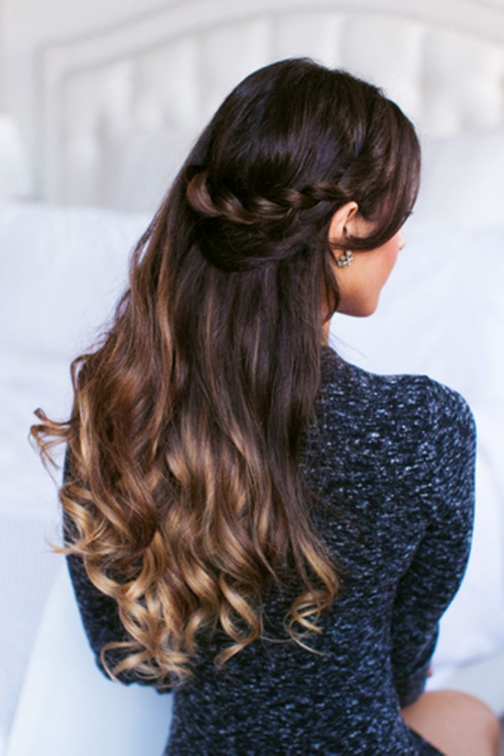 Easy Effortless Lace Braid Created With Ombre Blonde Luxy Hair