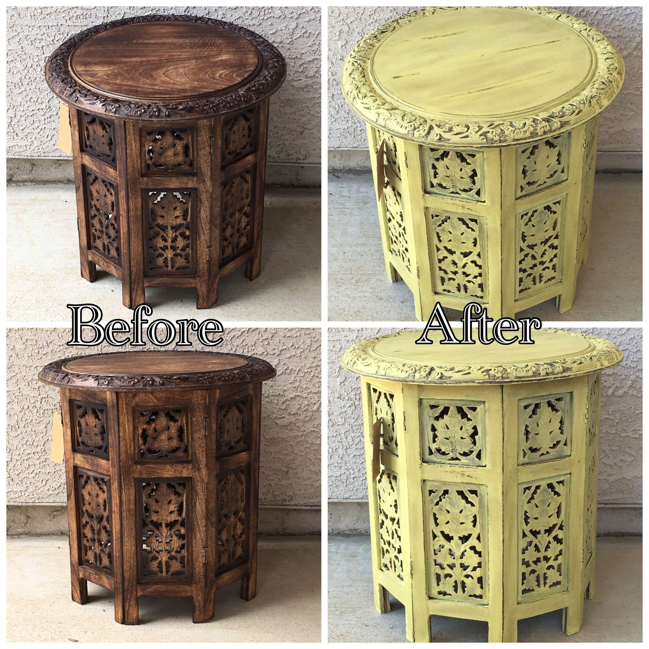 Martha Stewart Chalk Paint Tomatillo Color With Dark Wax And Clear Wax  Coats. Distressed.