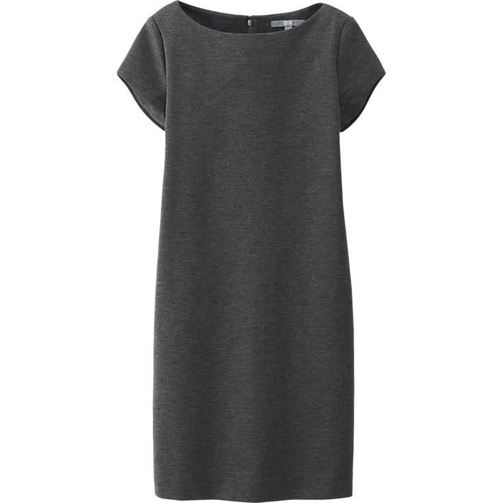 WOMEN PONTE SHORT SLEEVE DRESS | UNIQLO