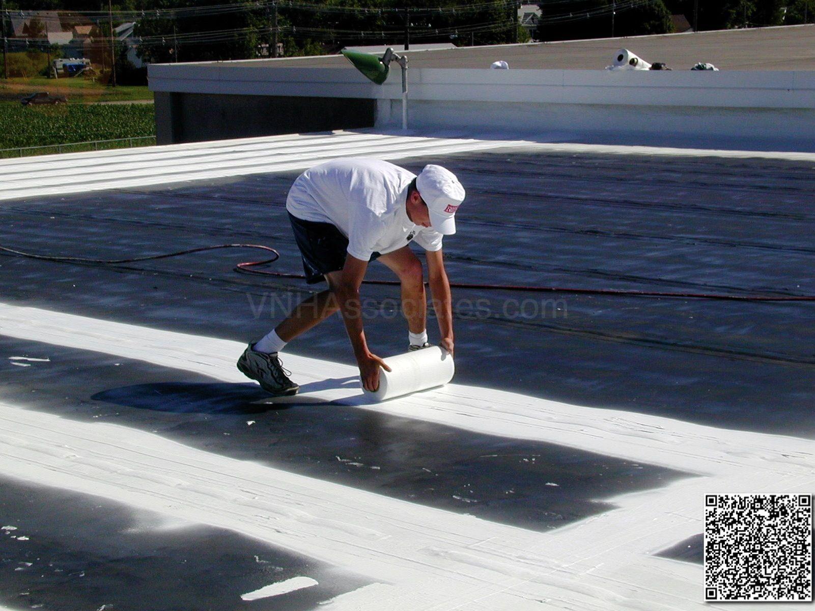 Elastomeric Foam Membrane White Roof Products And Installation Photos Installation Membrane Photo