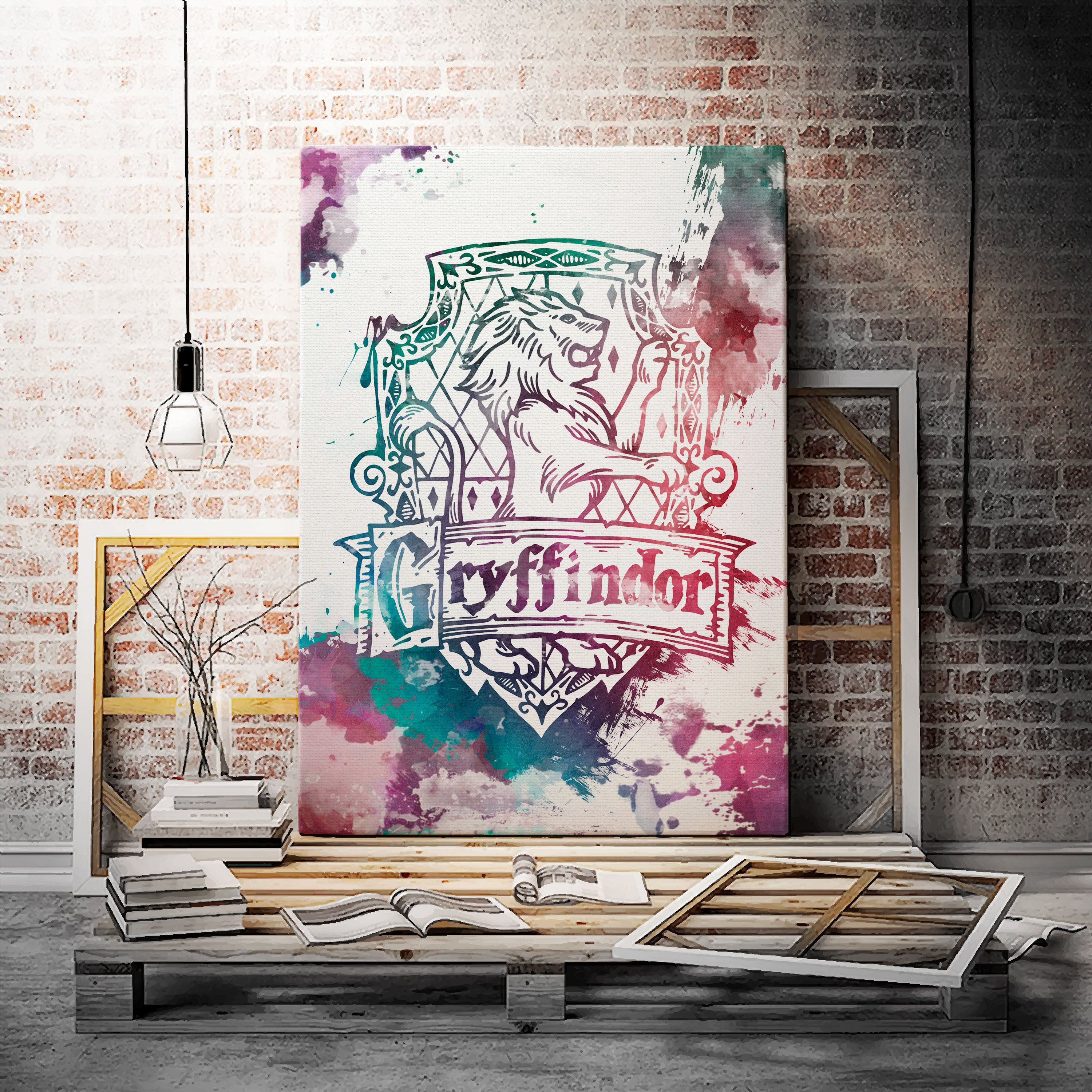 Excited To Share The Latest Addition To My Etsy Shop Hogwarts Gryffindor Castle Art House Decor Wall Sch Canvas Painting Diy Canvas Painting Nursery Wall Art