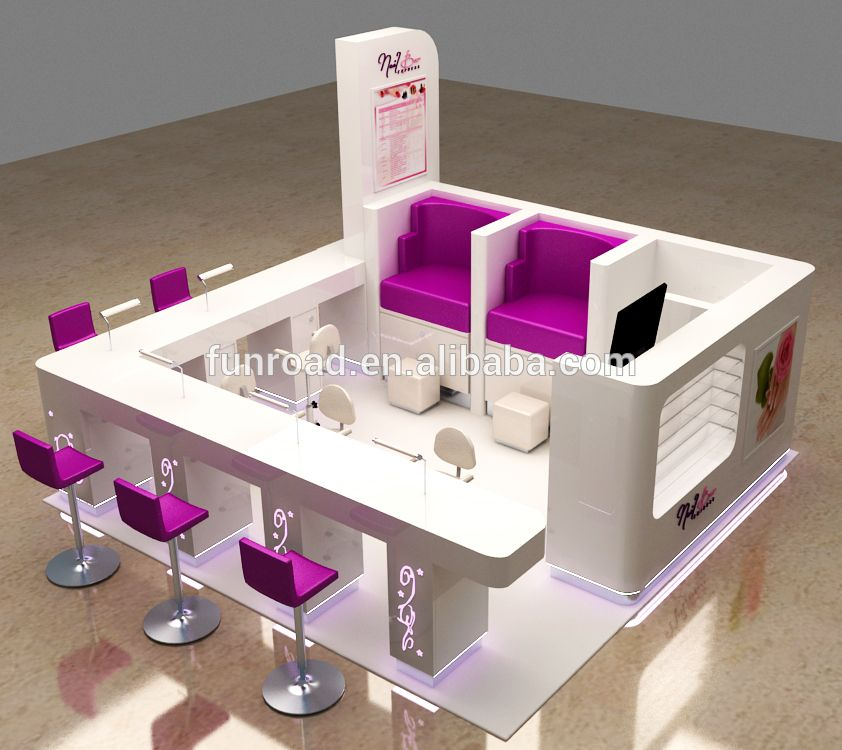 Nail bar kiosk for beauty manicure service photo detailed for Salon de pedicure