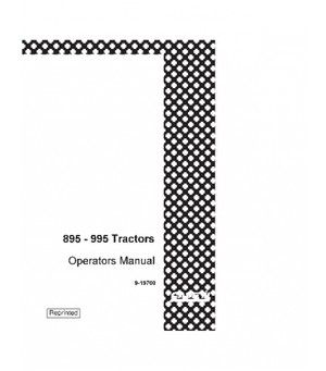 CASE IH 895 995 WITH CARRARO MFD AXLE TRACTOR OPERATORS
