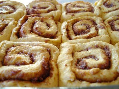 Pumpkin cinnamon rolls from Cooking Light. Must make this weekend - Joe has been waiting for a month for me to make some.
