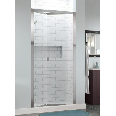 Basco Infinity Bifold 33 X 72 Folding Semi Frameless Shower Door