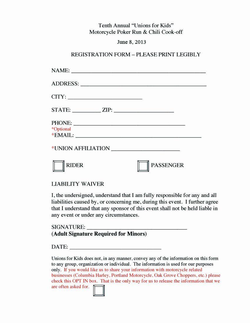 Golf Tournament Entry Forms Template New Poker Run Registration Form Fundraising Poker Run Golf Tournament Poker