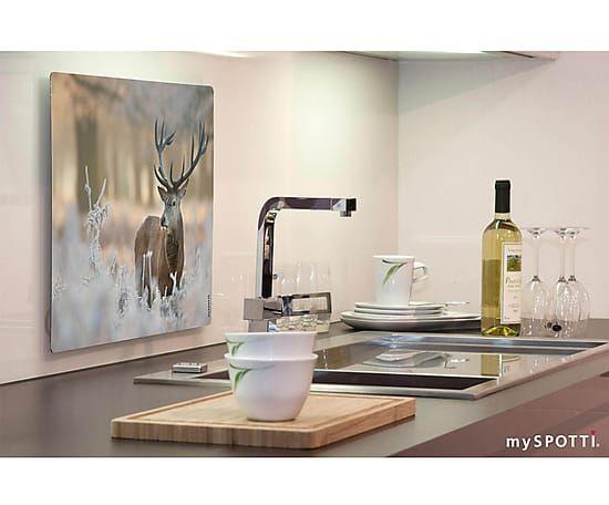 Wand Spritzschutz wand spritzschutz winter deer 41 x 59 cm weihnachtsedition