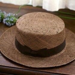 Margot/f (マルゴ・フェム) ケンマ草 カンカン帽  (57.5cm) ブラウン [UK-H062-BR]