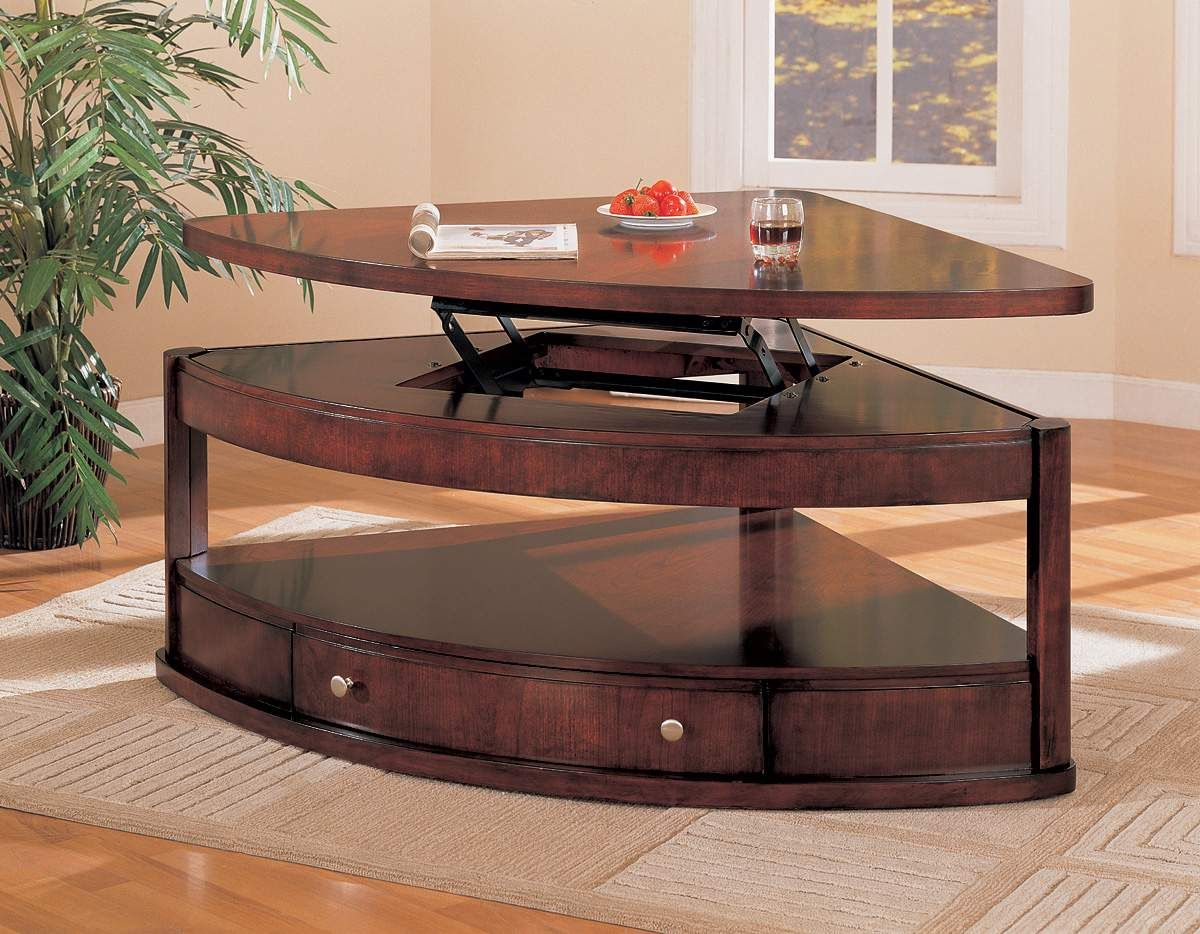 Shaped Lift Top Coffee Table Coffee Table Triangle Coffee Table
