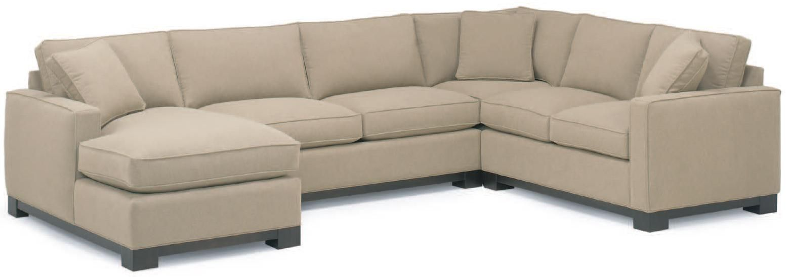 0555 Contemporary Sectional Sofa with Left Chaise by McCreary Modern