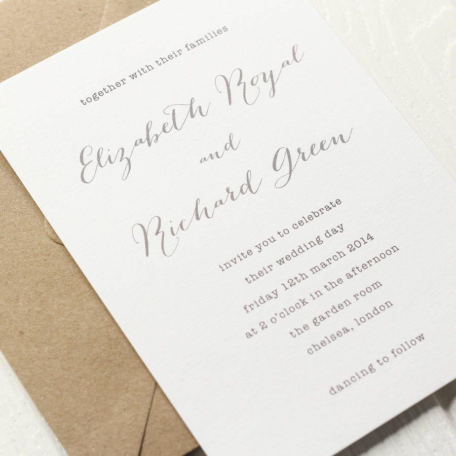 Typewriter Wedding Invite | Typewriters, Wedding and Wedding ...