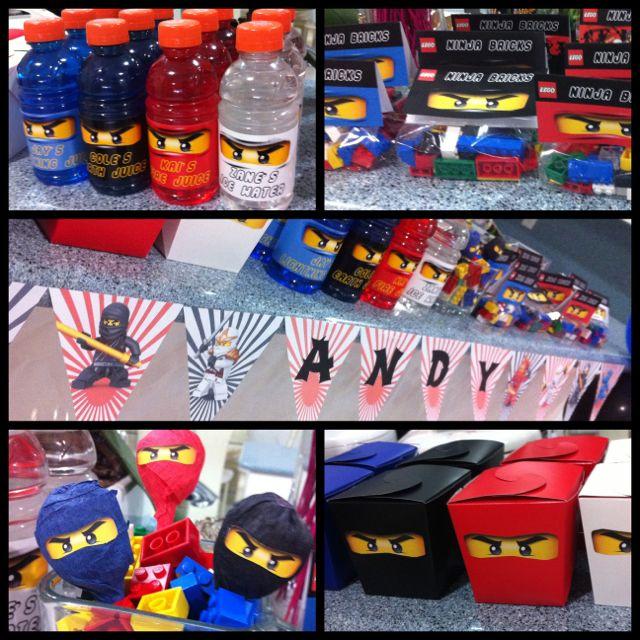 Lego Ninjago Birthday Party Google Search: Lego Ninjago Kids Party Decorations And Favors =)