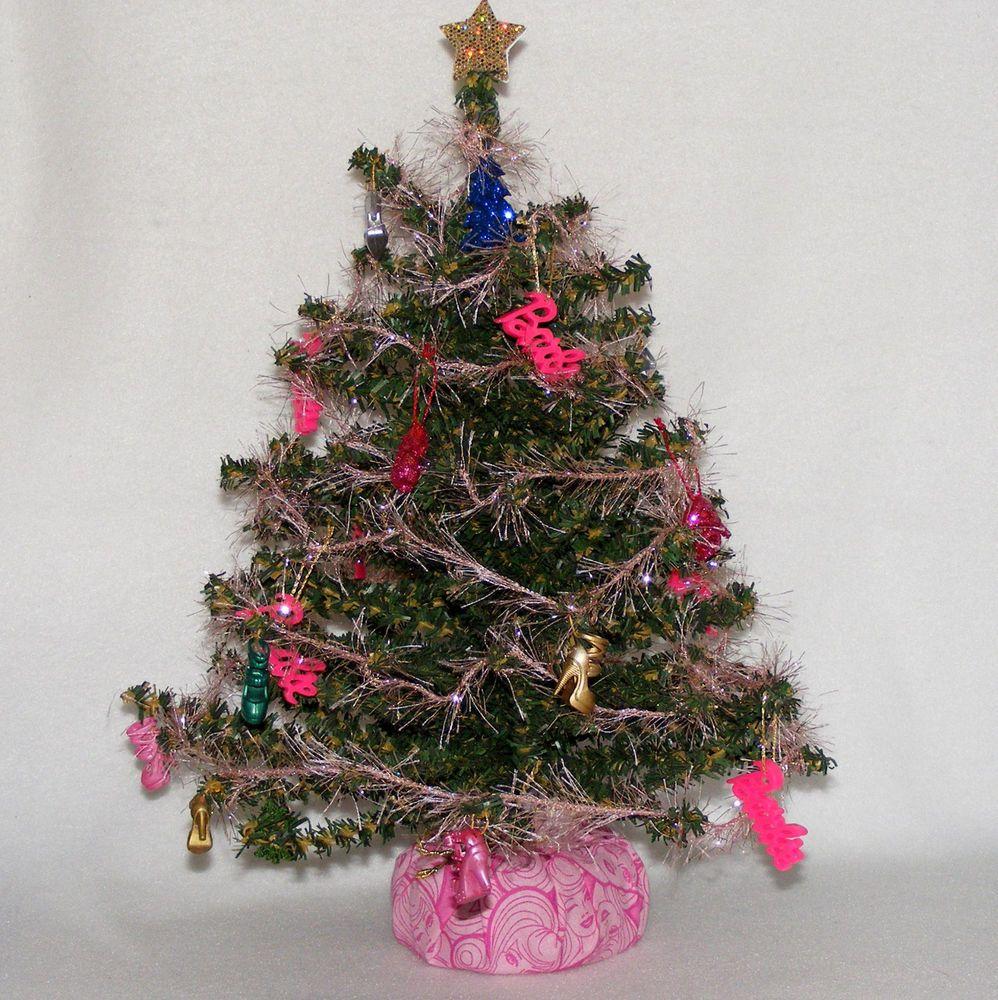 OOAK Christmas,Holidays, Green TableTop Tree - Barbie Christmas Tree - OOAK, Handmade #none