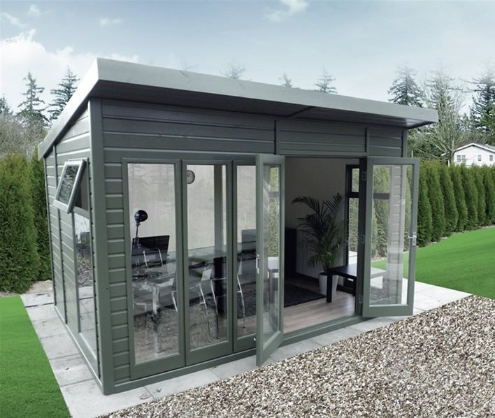 Pent style summer house