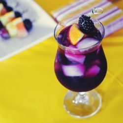 Merlot and brandy sangria