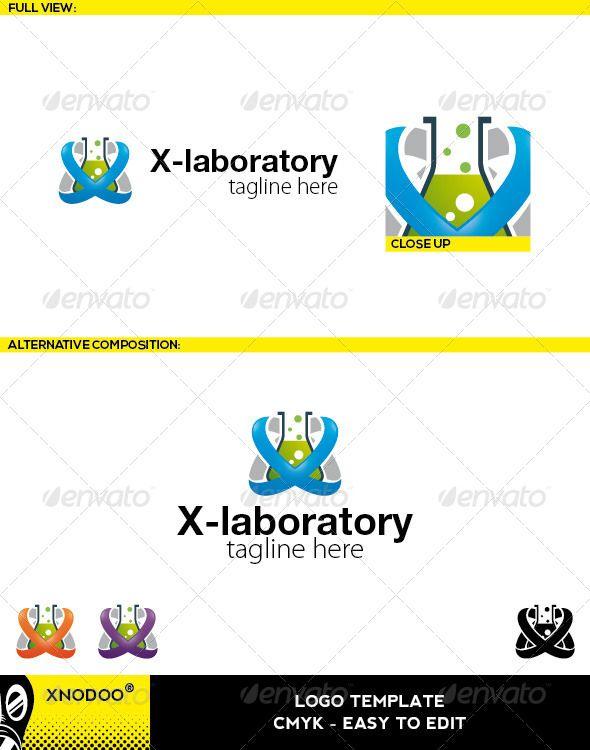 X Laboratory Logo Logos Professional Logo And Letter Logo