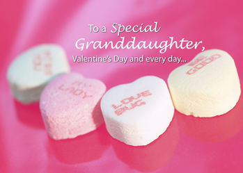 3544 Granddaughter Valentine Candy Hearts