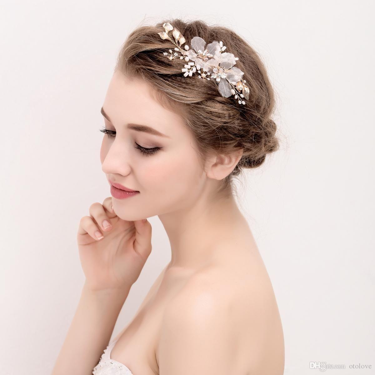 wholesale handmade bridal headpiece ivory & blush pink