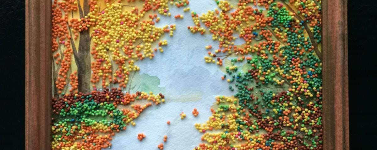 Осенняя картинка из круп