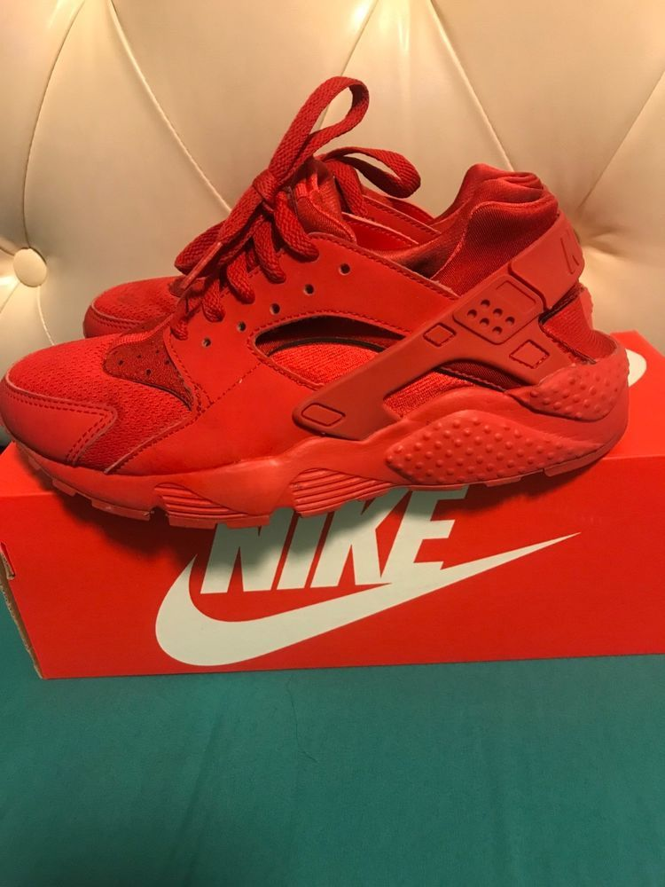 All red Nike huaraches size 5 boys