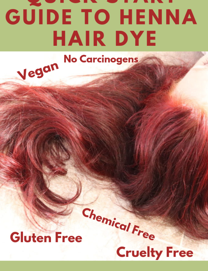 Quick Henna Hair Color Instructions And Before And After Shots The Vegan Zebra Henna Hair Henna Hair Color Dyed Hair
