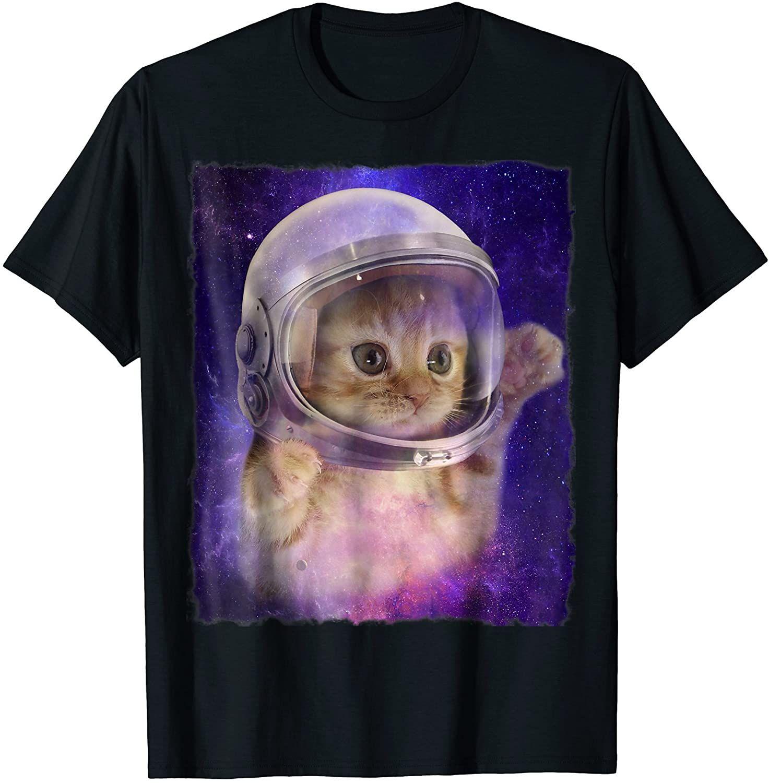 Cute Space Cat Astronaut Kitty Space Helmet Deep Space Tee Astronaut Cat Space Cat Space Tee [ 1500 x 1473 Pixel ]