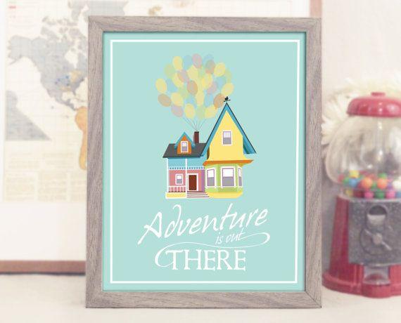 8x10 Up Movie Decor Inspired By Disney Adventure Is Out There W Carl And Ellie House Nursery Art Decor A Printable Pdf Cosas Lindas Dulce Hogar Hogar