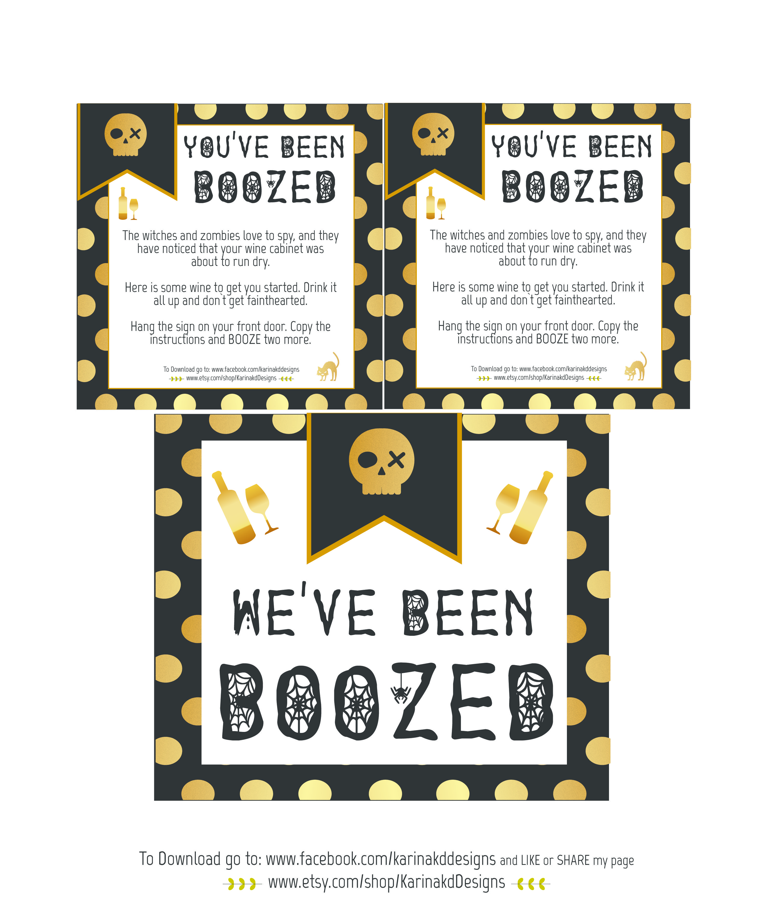 picture about You've Been Booed Printable Pdf named Halloween \