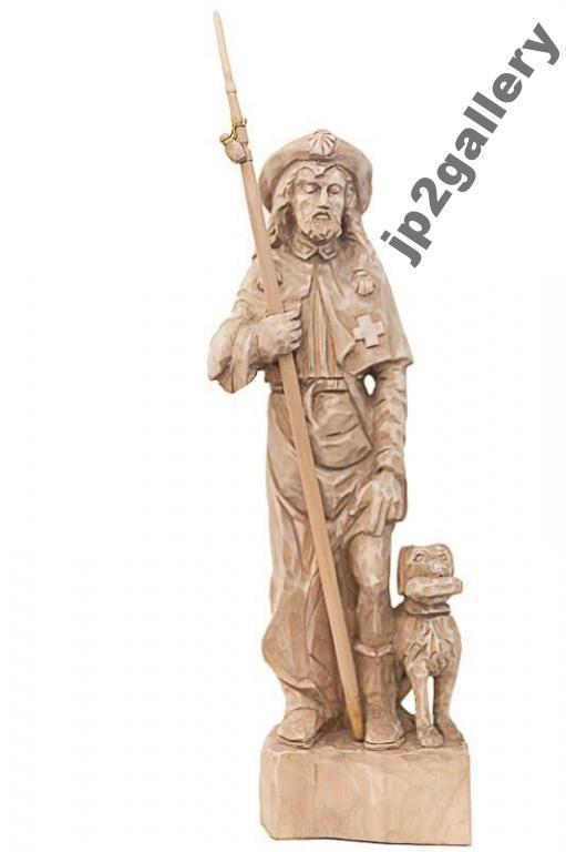 Swiety Roch Patron Zwierzat Rzezba Drewniana 5328279340 Oficjalne Archiwum Allegro Greek Statue Lion Sculpture Statue