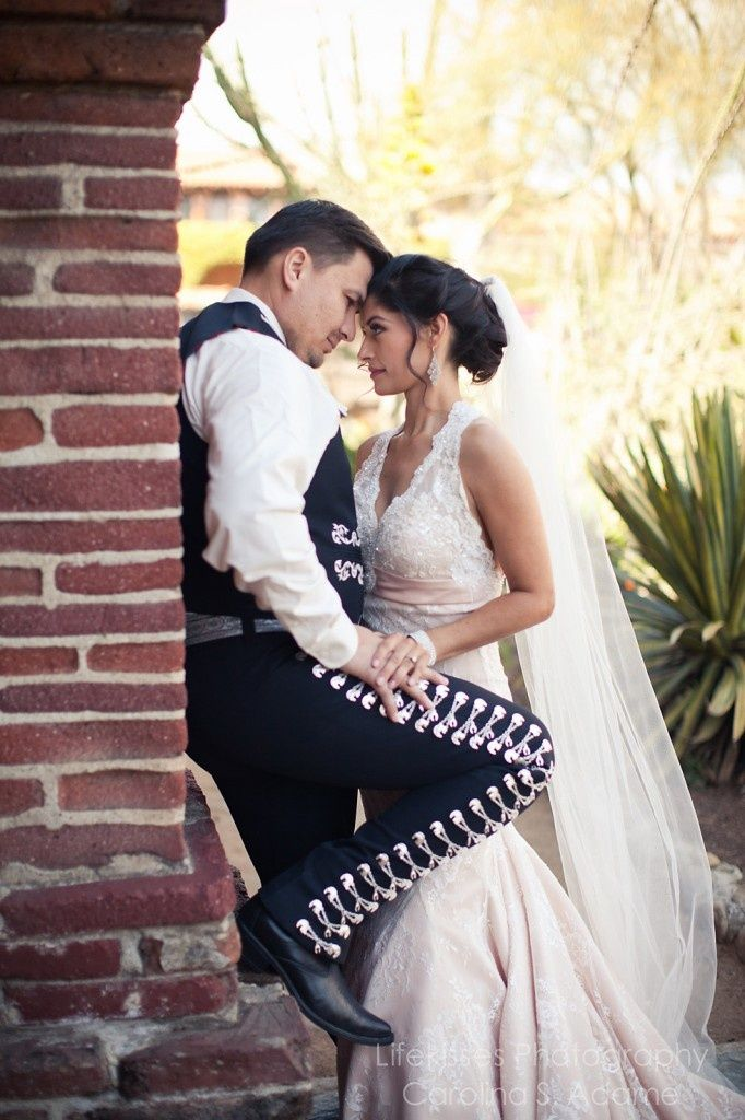 Love The Lines Of His Charro Suit Even Though We Couldn T Have Our Wedding Pressense Family Members In Mexico Were Able To Bring Mexican