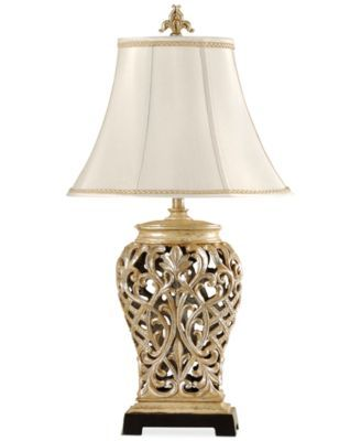 Stylecraft Open Lace Scroll Table Lamp Created For Macy S Reviews All Lighting Home Decor Macy S In 2020 Traditional Table Lamps Table Lamp Silver Table Lamps