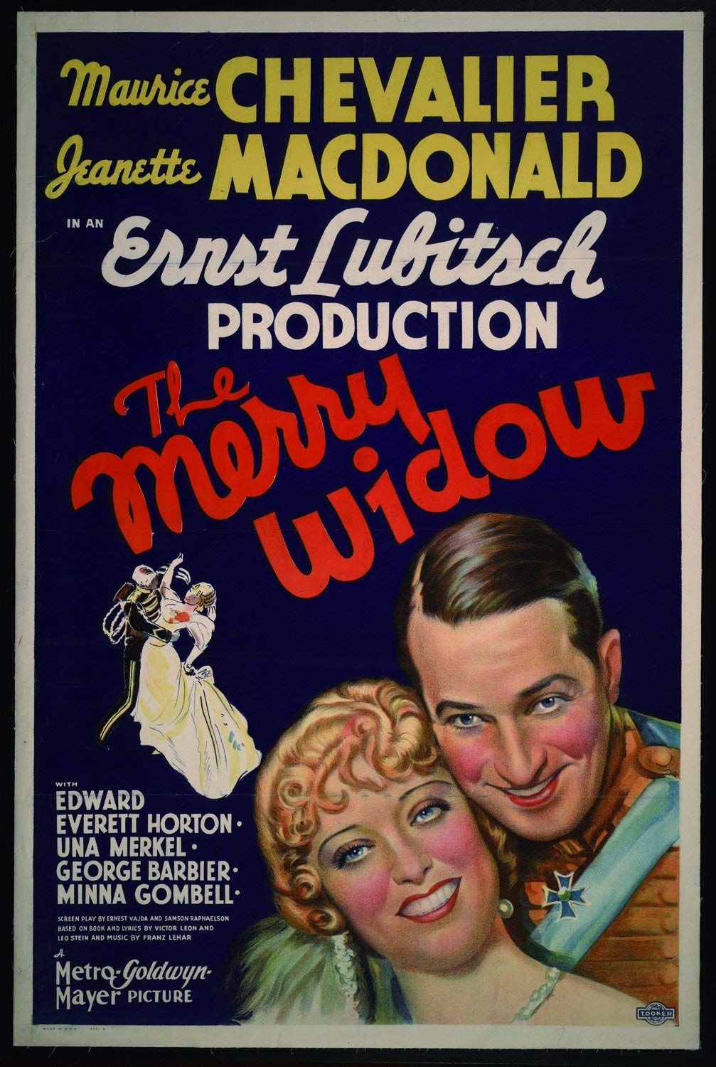 The Merry widow Jeanette MacDonald Movie poster print 2