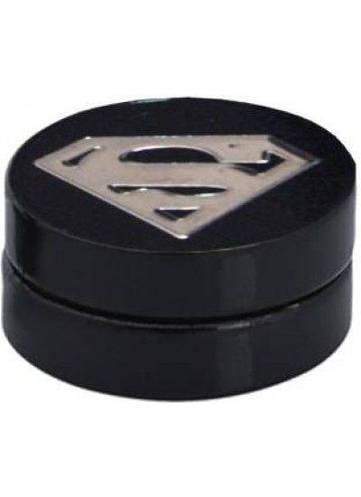 Black Silver Superman Magnetic Fashion Stud Earring Male Earrings Studs Mens