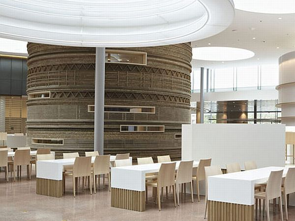 Rabobank Headquarters User Friendly Interior Design Decorated With Natural Cardboard Elements