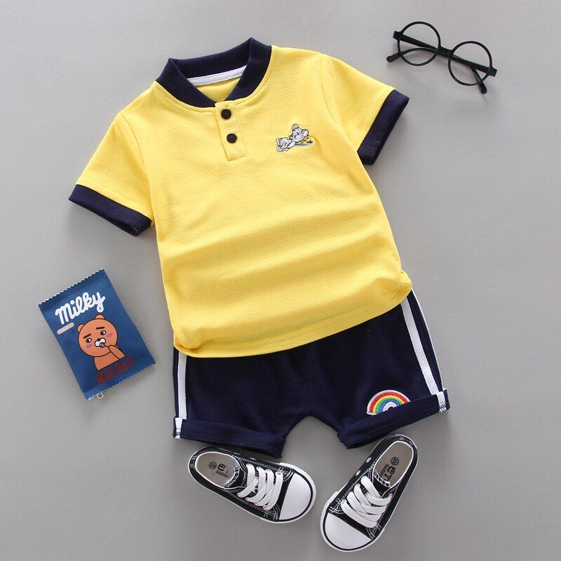 Baby Boys Clothes Sets Clothing Summer Short Sleeve Tracksuit Kids Clothes Suits