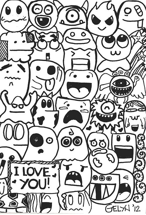 40 awesome cute doodles images pinteres for How to doodle names