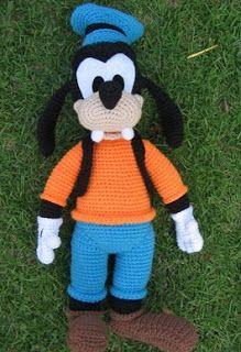 Mickey Mouse En Amigurumi : PATRONES AMIGURUMIS GRATIS: PATRON PERRO GOOFY (MICKEY ...