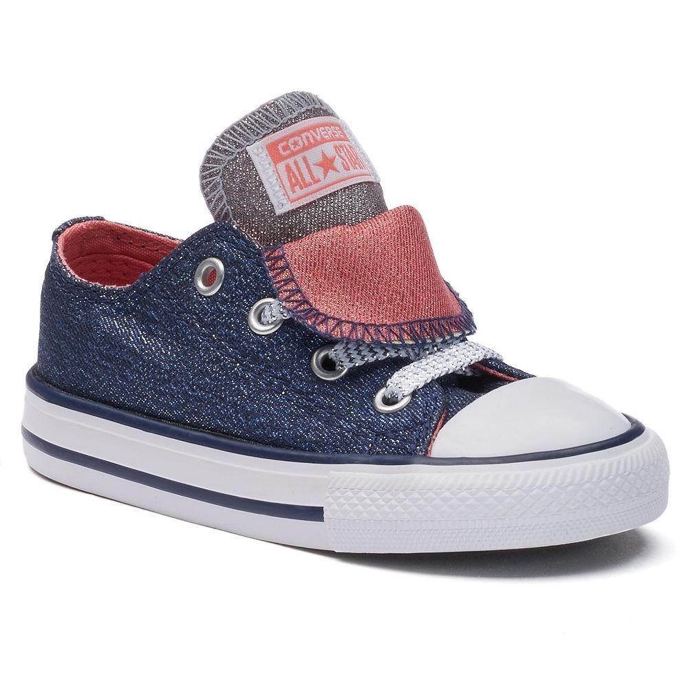 e17e740df228 Converse Toddler Chuck Taylor All Star Shine Double-Tongue Shoes ...