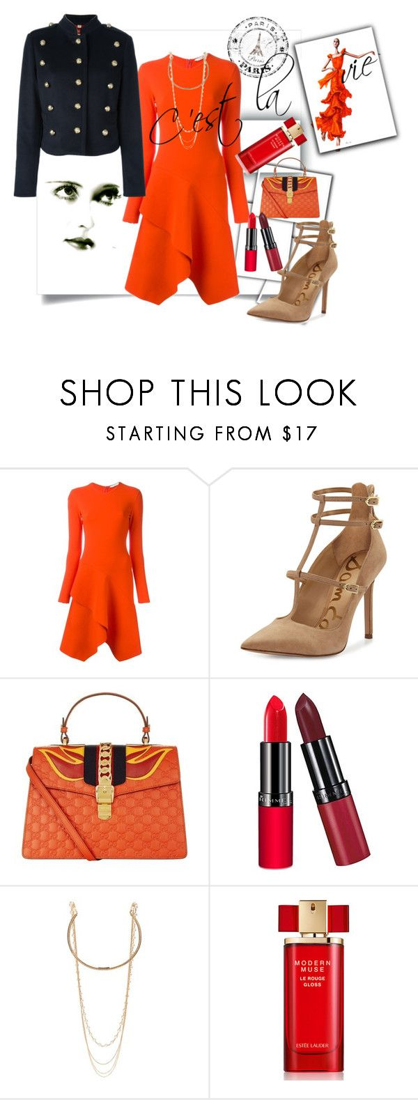"""C'est la vie"" by amaiba ❤ liked on Polyvore featuring Givenchy, Sam Edelman, Gucci, Rimmel, Marc Jacobs, Estée Lauder and Burberry"