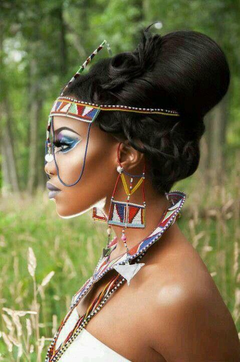 c39d8559d26 Modern Maasai bride! #Kenya #gorgeous #Weddings... in 2019 | Black ...