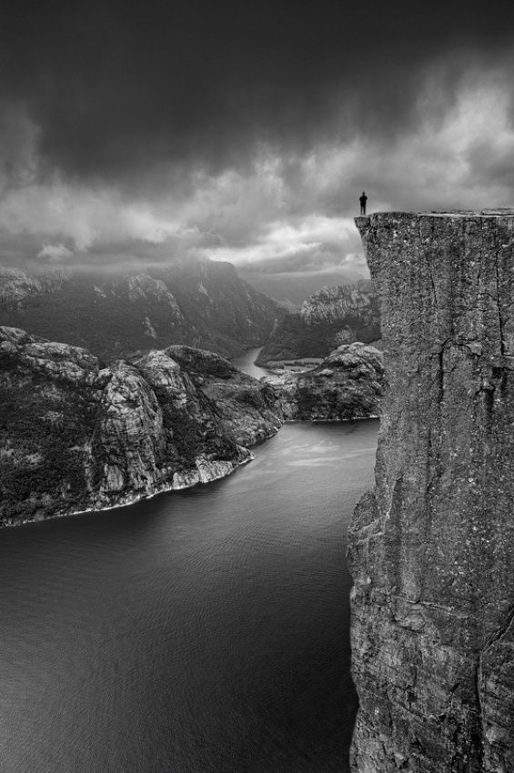 Touching the Clouds..., Preikestolen, Norway