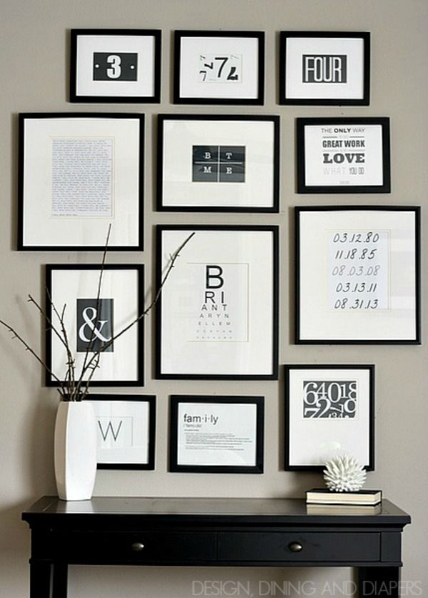 Create A Gallery Wall Ideas For Picture Frame Displays Gallery