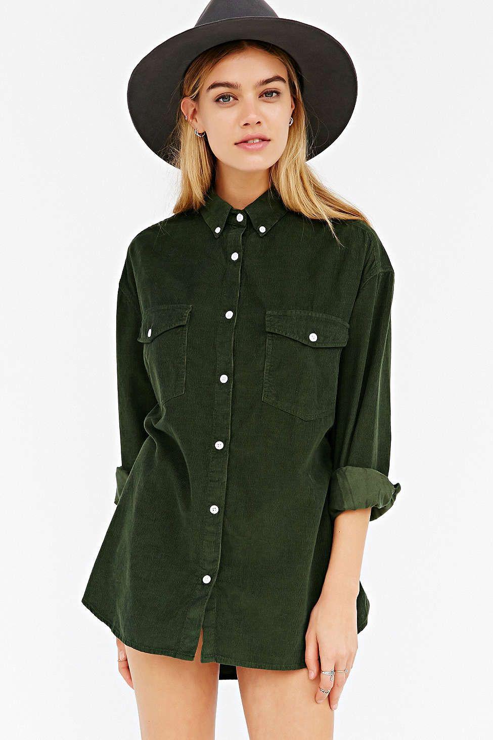 3fdc7c7d33 BDG Oversized Corduroy Button-Down Shirt | Cloth | Fashion, Shirts ...