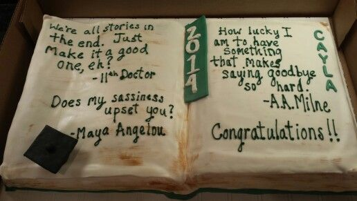 For the book lover! Graduation cake by SweetBlessingsbyLou