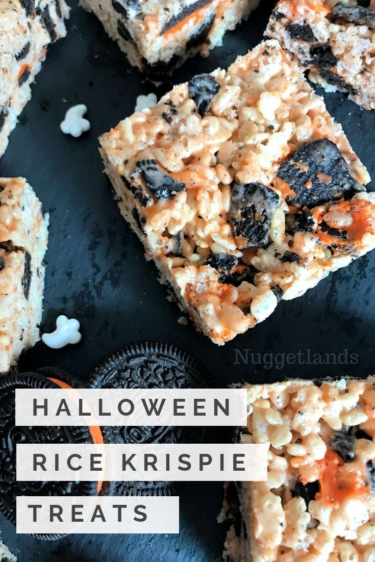 Halloween Rice Krispie Treats #halloweenricekrispietreatsideas