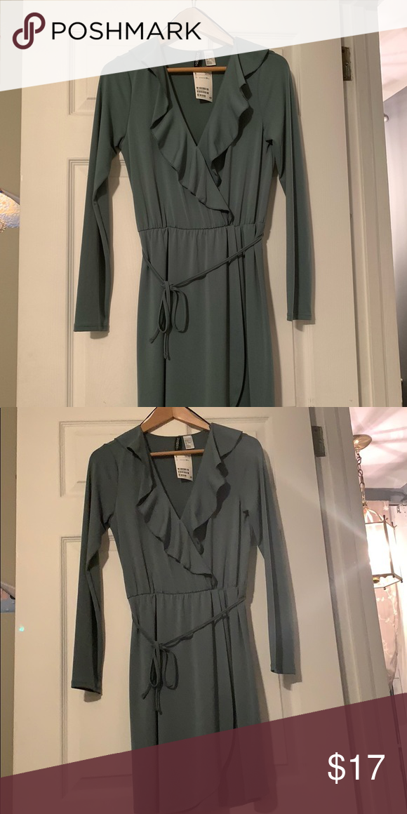 89f10b7ec2a5a H&M brand new with tags olive dress Brand new beautiful dress, perfect for  winter party or work. H&M Dresses Mini