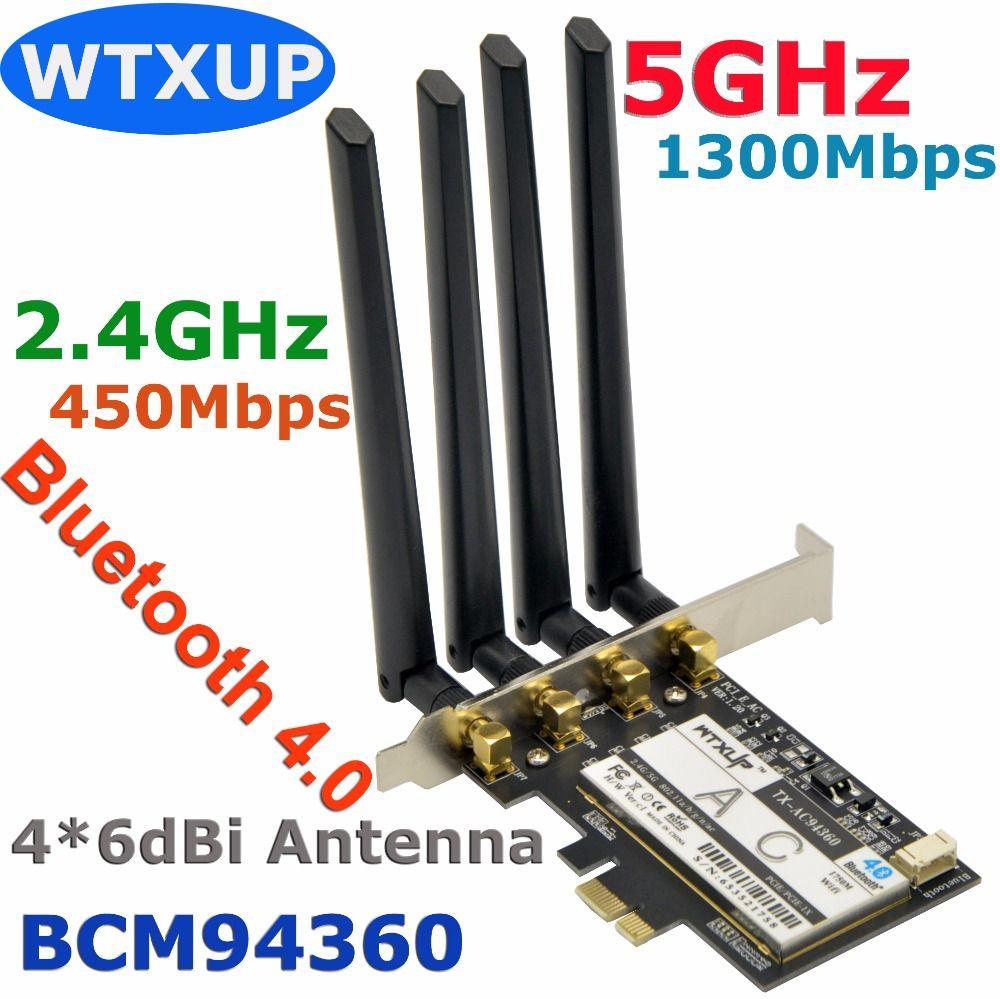 WTXUP Broadcom BCM94360 1750 Mbps 802 11ac Wireless Desktop PCi-E