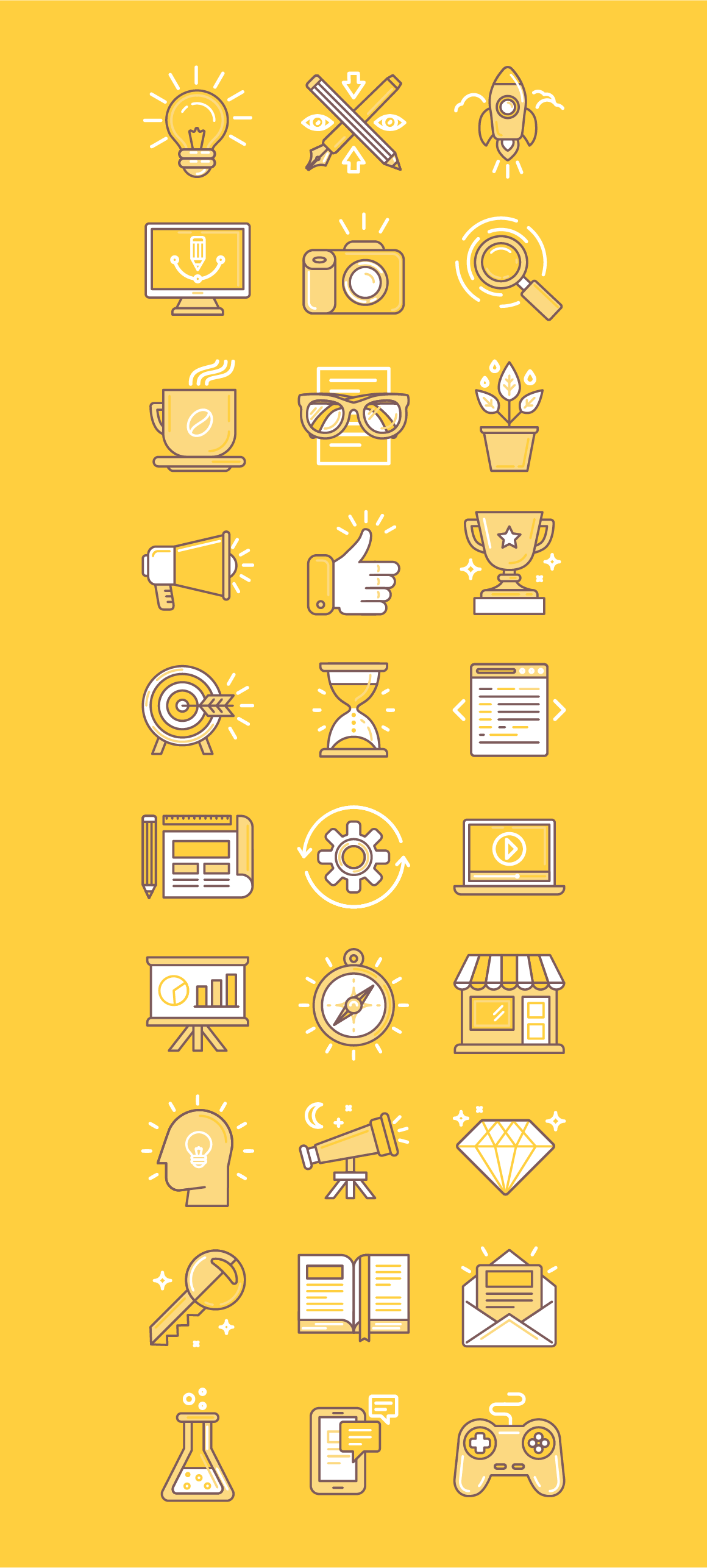 30 Linear Icons On Behance Design Icons Pinterest
